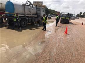 مساعد الوزير للمرور يتابع شفط المياه من أعلى الدائري استعدادا لعودة المدارس والجامعات |صور