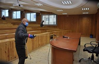 جامعة كفرالشيخ: تطهير وتعقيم المباني والمدرجات والمعامل والملاعب والحدائق ضد فيروس كورونا | صور