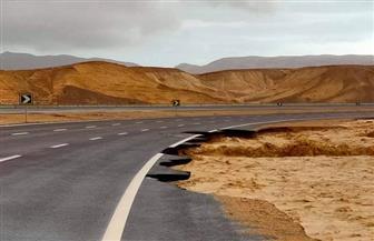 استمرار غلق طريق الطور - عيون موسي وإعادة فتح طريق شرم الشيخ - دهب - نويبع - طابا | صور