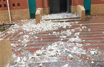 تعليم مطروح: معالجة عاجلة للأضرار التي أصابت مدرسة الضبعة النووية بسبب الطقس السيئ | صور