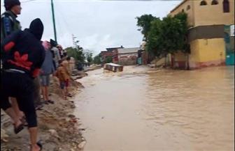 الشباب والرياضة: تسكين الأسر المتضررة من السيول بقرية الديسمي| صور