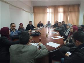 جامعة طنطا: وضع خطة عمل لتجهيز المقررات الإلكترونية | صور