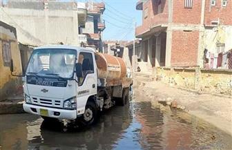 استكمال رفع مياه الأمطار من المناطق المنخفضة والشوارع والمدن بكفرالشيخ | صور