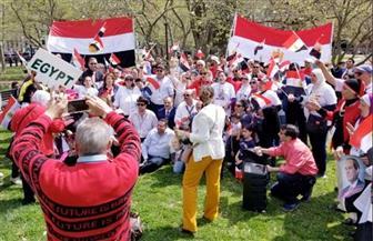 مصريون من أمام البيت الأبيض يوجهون رسالة تأييد لموقف بلادهم من قضية سد النهضة