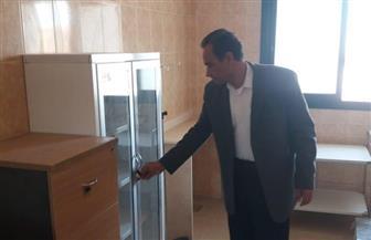 رئيس جهاز الفيوم الجديدة يتفقد تجهيزات مبنى الوحدة الصحية بالحى الثالث