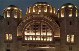 وزارة السياحة والآثار تنتهي من إضاءة الواجهات الخارجية لكنيسة البازيليك | صور