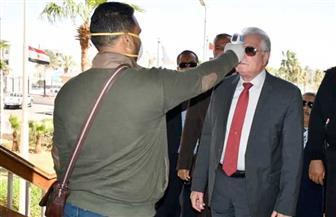 محافظ جنوب سيناء والعاملون بالديوان العام والمديريات يخضعون لفحص فيروس كورونا| صور