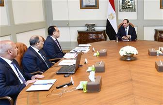 تفاصيل اجتماع الرئيس السيسي مع رئيس الحكومة ووزراء الكهرباء والتنمية المحلية والإسكان والنقل