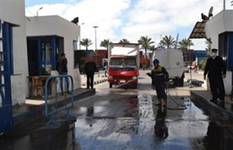 تشديد الإجراءات الاحترازية على الأفراد والبضائع بميناء الإسكندرية