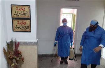 تطهير وتعقيم ورش مستشفى الحسين الجامعي للوقاية من فيروس كورونا المستجد  صور