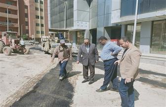 محافظ أسيوط: بدء ترميم وصيانة كفاءة شوارع حي شرق| صور