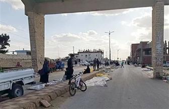 نقل سوق الخضار والفاكهة ببئر العبد حفاظا على سلامة المواطنين | صور