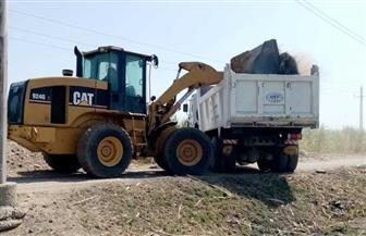 تنفيذ 7 حالات تعد ورفع 80 طن مخلفات بقرى مركز سوهاج