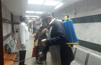 تطهير وتعقيم عيادات التأمين الصحي بالغربية لمواجهة فيروس كورونا   صور