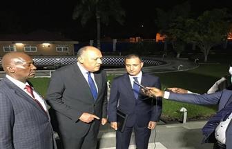 وزير الخارجية يدلي بتصريحات لتليفزيون الكونغو عقب لقاء رئيسها | صور