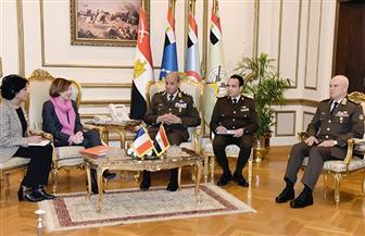 الفريق أول محمد زكي يلتقي وزيرة القوات المسلحة الفرنسية لبحث التعاون المشترك