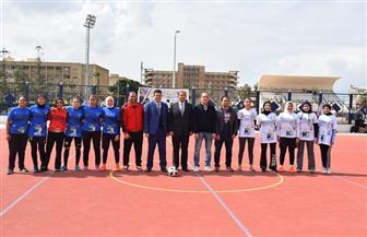 إطلاق أسبوع رياضى بمشاركة 42 فريقا لكرة القدم من طلاب جامعة الإسكندرية للتوعية بأضرار المخدرات |صور
