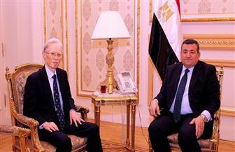 أسامة هيكل يستقبل السفير الياباني بالقاهرة| صور