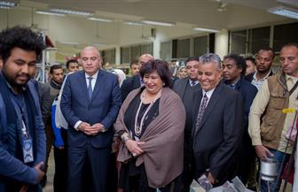 وزيرة الثقافة تتفقد معرض جامعة جنوب الوادى للكتاب | صور