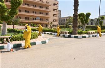 جامعة القاهرة تواصل تعقيم المدن الجامعية | صور