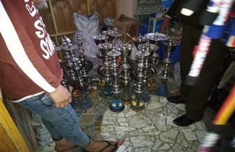ضبط ٤٠٠ شيشة وغلق عدد من المقاهي المخالفة بمحافظة كفرالشيخ | صور