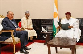 رئيس النيجر يتسلم رسالة من الرئيس السيسي حول مستجدات سد النهضة | صور