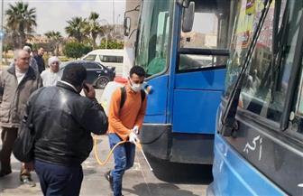 جهاز مدينة بدر ينظم حملات تطهير وتعقيم في موقف الأتوبيس الرئيسي بالمدينة