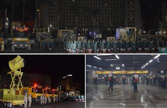 القوات المسلحة تقوم بأعمال تعقيم وقائي لعدد من الميادين والشوارع الرئيسية والمرافق الحيوية
