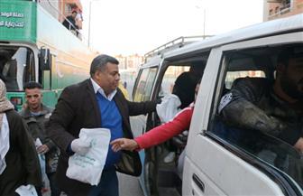 «إغاثة الوفد» تطرق أبواب سكان الأسمرات لمكافحة «كورونا» | صور