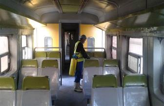 السكك الحديدية وشركة المترو تواصلان أعمال التطهير للقطارات والمحطات لمواجهة فيروس كورونا
