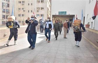 محافظ أسيوط يترأس حملة تعقيم مستشفيات المبرة والرمد والديوان العام لمواجهة كورونا | صور