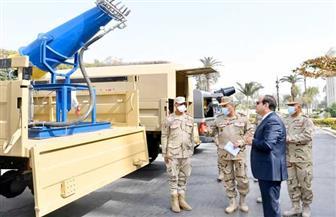 المتحدث الرئاسي ينشر فيديو تفقد الرئيس السيسي نماذج لمعدات التطهير والتعقيم التي طورتها القوات المسلحة