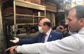 رئيس حي باب الشعرية يقود حملات لضبط الأسعار في سوق الخراطين ويغلق محلا يبيع اللحوم بأسعار مخالفة