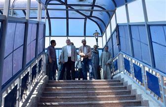 محافظ الأقصر يوجه بإصلاح كوبرى مصطفى كامل.. وإنشاء مقاعد انتظار للمواطنين |صور