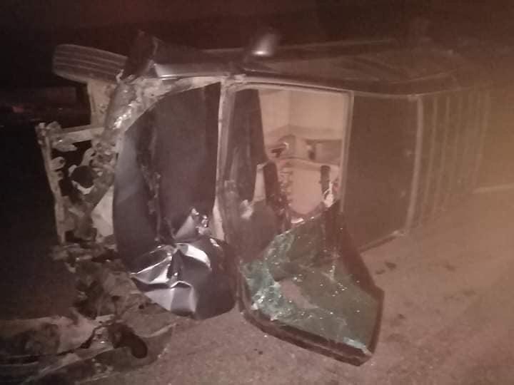 حادث دهس عربة نقل لـ15 سيارة أعلى الطريق الإقليمى بالصف