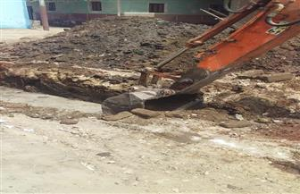 البدء في أعمال بناء مقر الحملة الميكانيكية لقرية الزينية بحري بالأقصر|صور