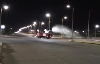 تطهير وتعقيم شوارع البحر الأحمر أثناء فترة حظر التجول وسط التزام المواطنين|  صور