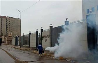 تعقيم مستشفى عزل مرضى كورونا في الإسكندرية ومحيطها| صور