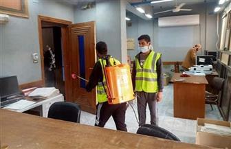 تطهير المنشآت الطبية والخدمية في ملوي خلال ساعات حظر التجوال