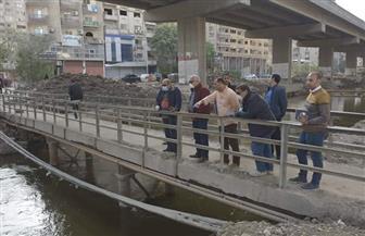 محافظ الجيزة يتابع أعمال تطوير جسر ترعة المريوطية| صور