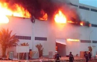 السيطرة على حريق هائل اندلع بمصنع وسط الإسكندرية