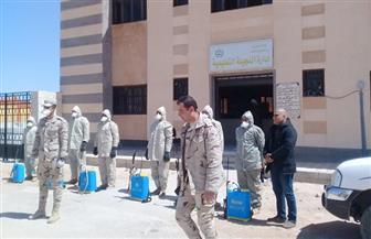 تعليم مطروح: عناصر الحرب الكيميائية بالمنطقة الغربية يعقمون ديوان إدارة النجيلة التعليمية   صور