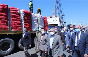 وزير النقل من ميناء الإسكندرية: جميع الموانئ تعمل على مدار 24 ساعة وسط إجراءات احترازية مشددة