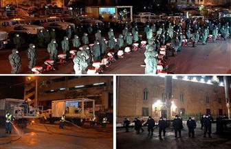 القوات المسلحة تقوم بأعمال التطهير والتعقيم لميدان العتبة وحي الموسكي لمجابهة كورونا| فيديو