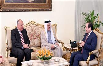 تفاصيل لقاء الرئيس السيسي مع وزير خارجية البحرين