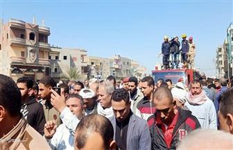 تشييع جثمان المجند إسلام بدير بالدقهلية | صور