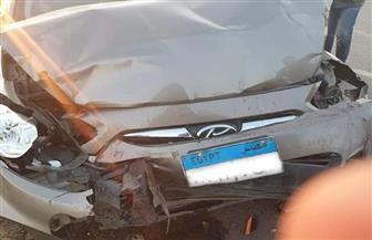 نجاة الحكم الدولي محمود البنا من حادث سير | صور