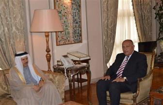 وزير الخارجية يبحث مع نظيره البحريني مجالات التعاون المشترك   صور