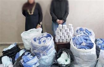 ضبط 600 كمامة مجهولة المصدر وكحول مغشوش قبل بيعه للمواطنين بسوهاج