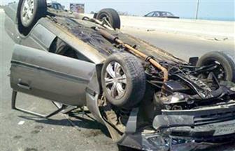 إصابة 6 مواطنين في حادث انقلاب سيارة بسوهاج
